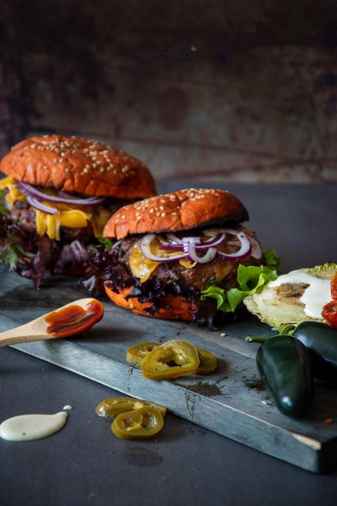 Jalapeño Cheddar burgers