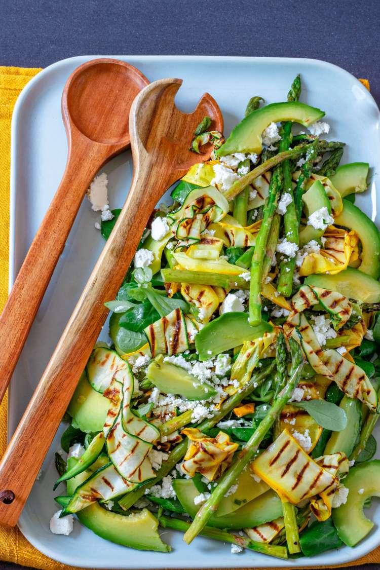 Salade gegrilde courgette feta