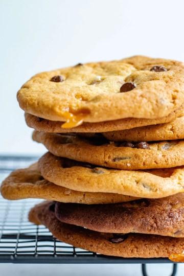 Recept Salted Caramel Cookies met chocolade