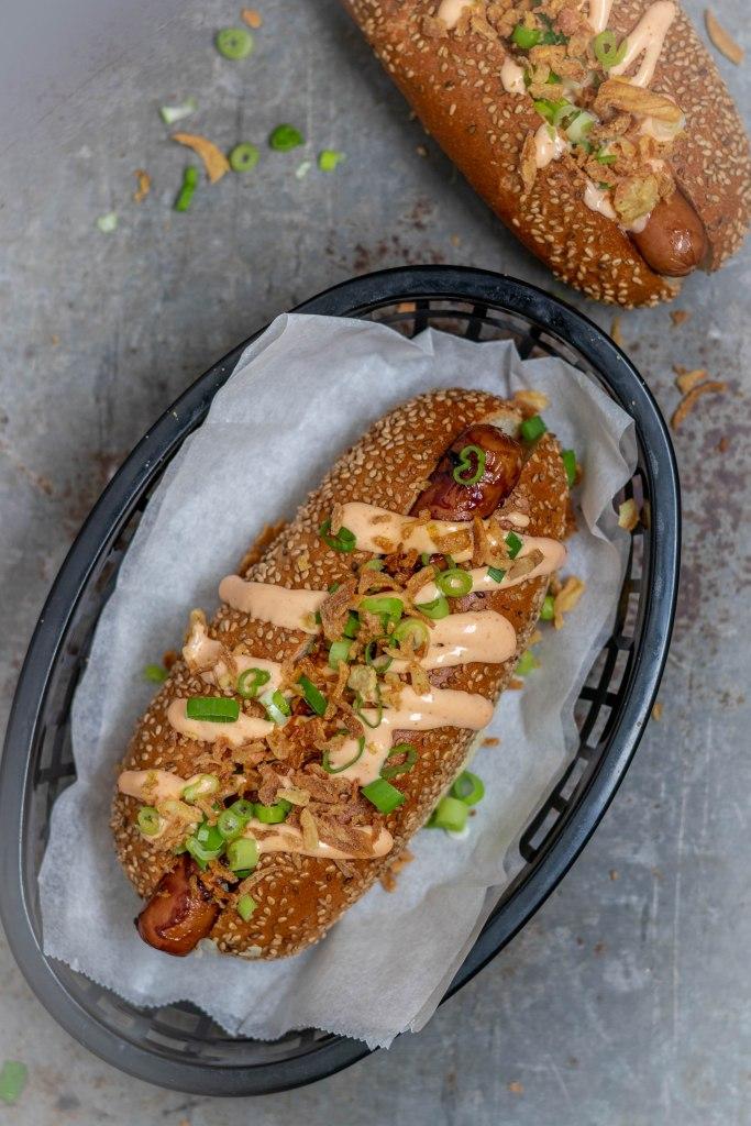 Recept voor Hoisin Hotdogs van de bbq