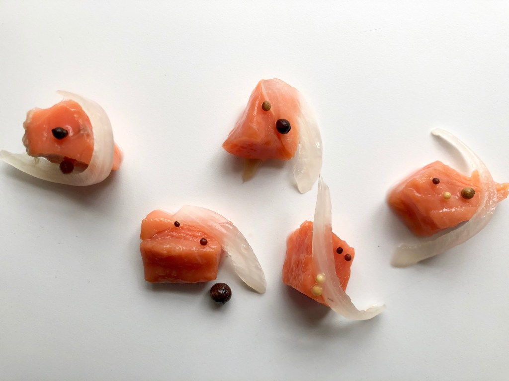 Pickled Salmon Pieces