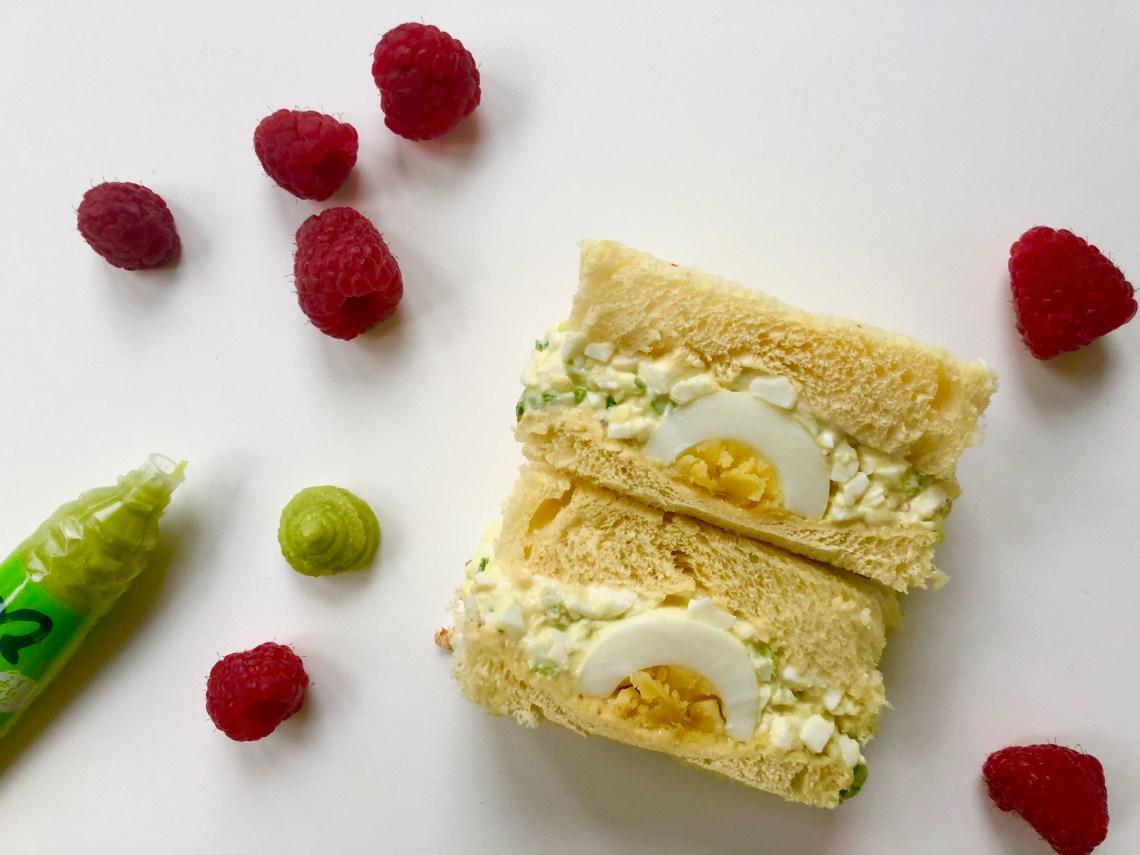 Raspberry Wasabi Egg Salad Sandwich