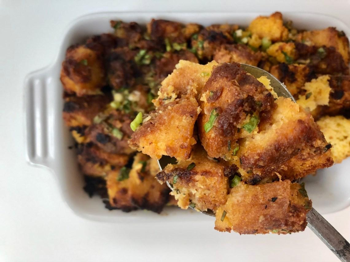 Cornbread-Miso Butter Stuffing 5