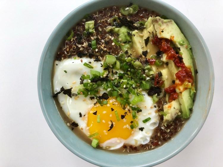 Quinoa Congee with Dobanjiang 2