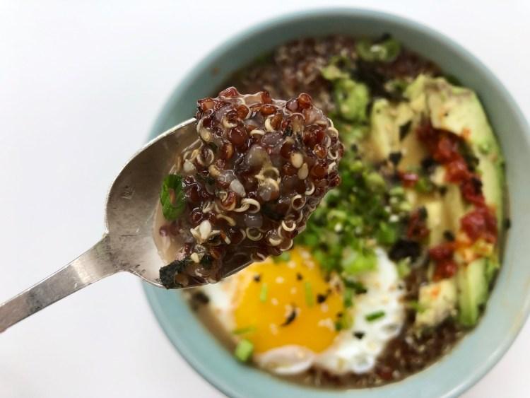 Quinoa Congee with Dobanjiang 3