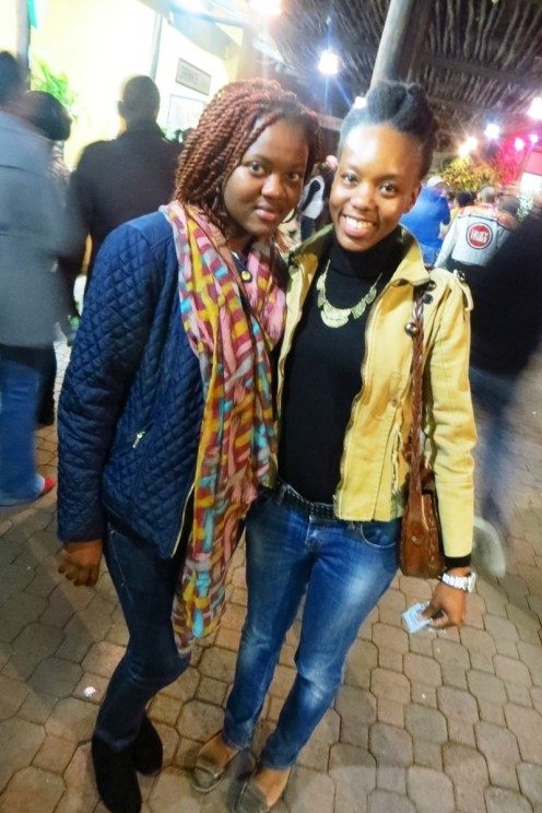 Ngozi from Concrete Village and a friend