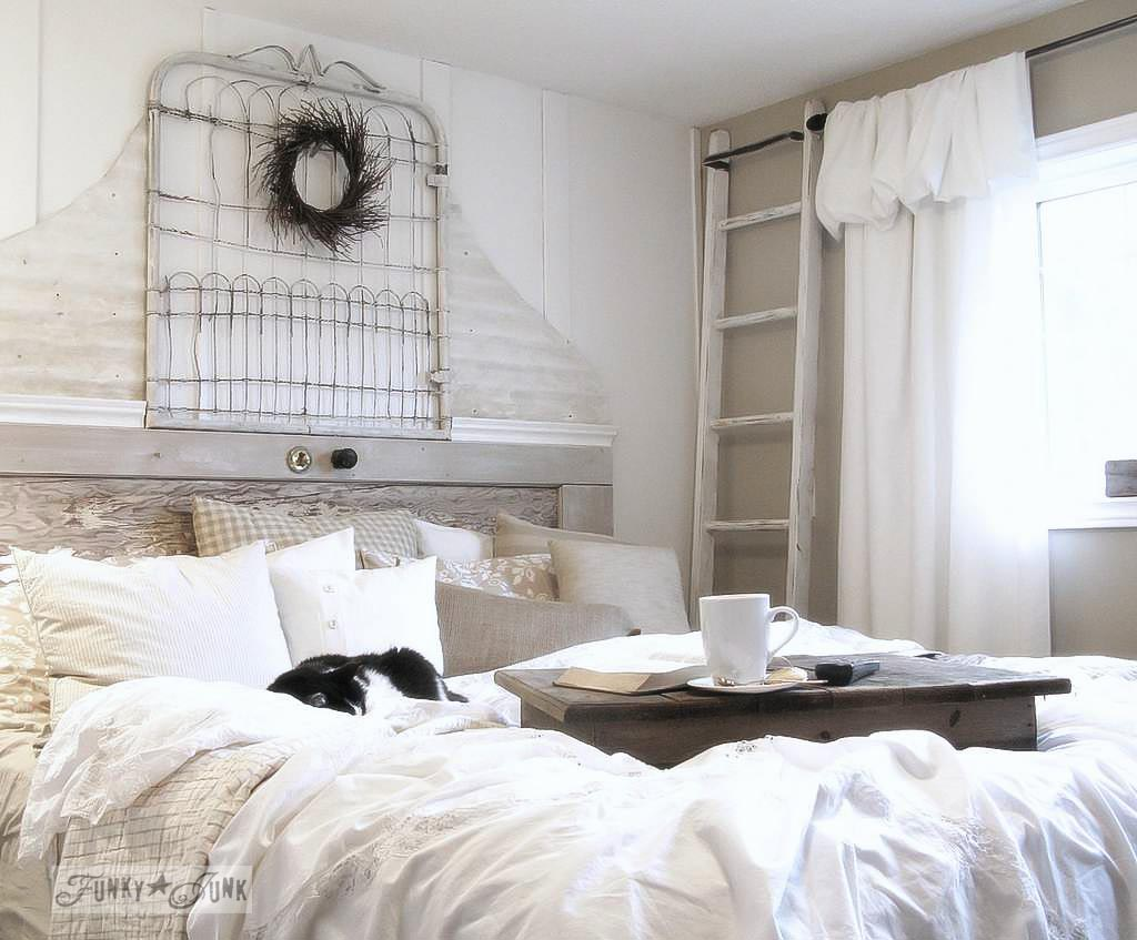 A Salvaged White Trash Bedroom Makeover... From Burn Pile