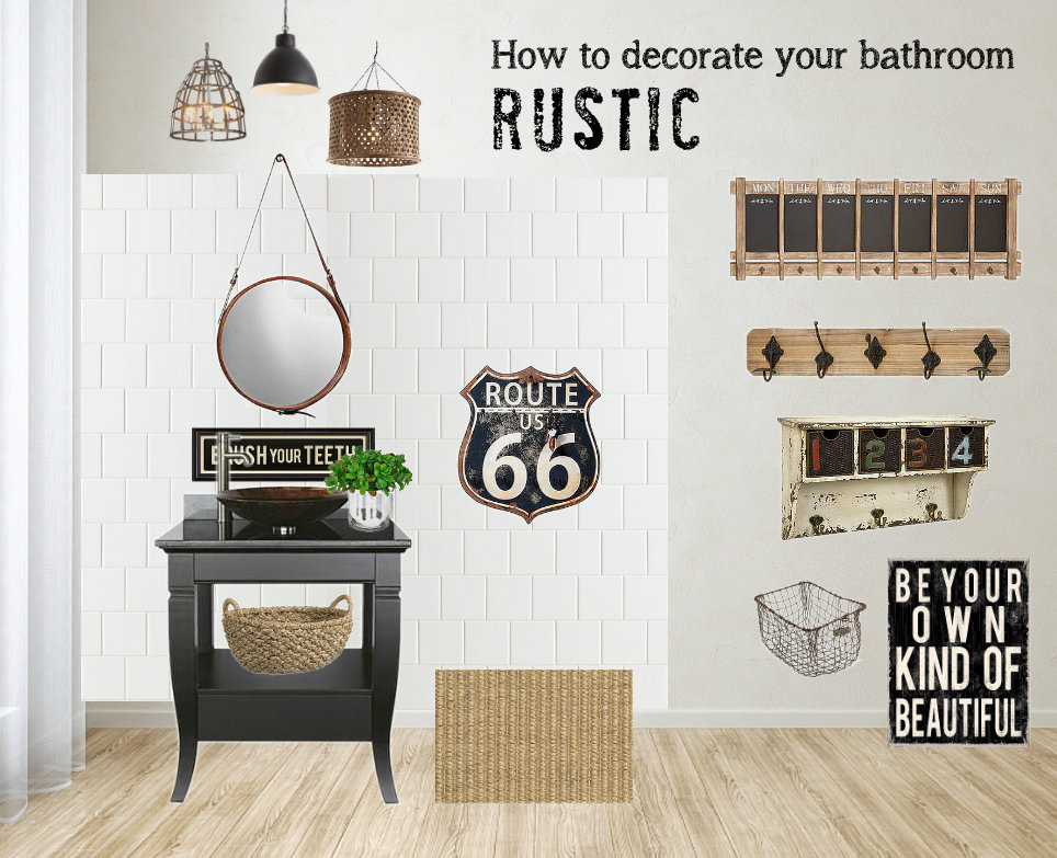 How To Decorate A Bathroom RusticFunky Junk