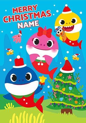 Baby Shark Christmas : shark, christmas, Shark, Christmas, Personalised, Funky, Pigeon