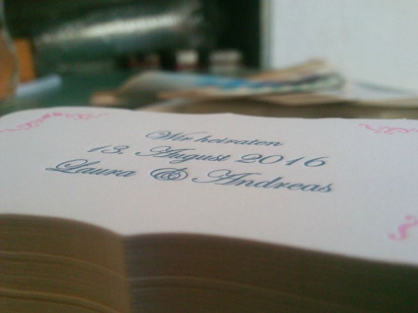 custom letterpress save the date cards