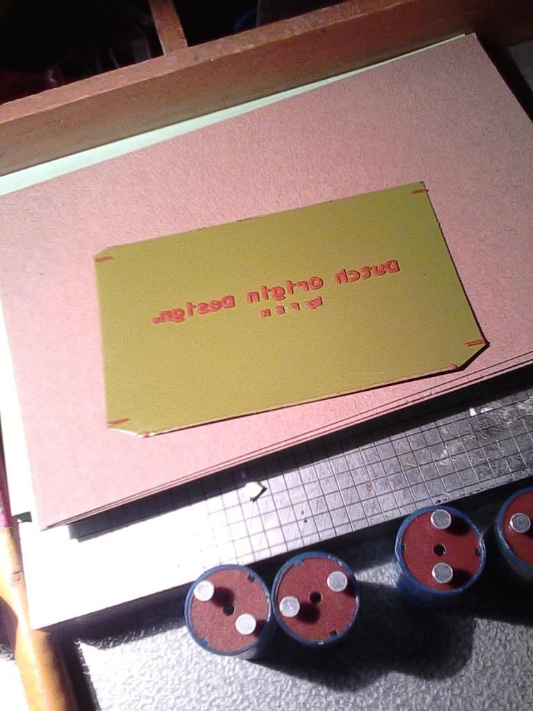polymer plate for custom letterpress business cards