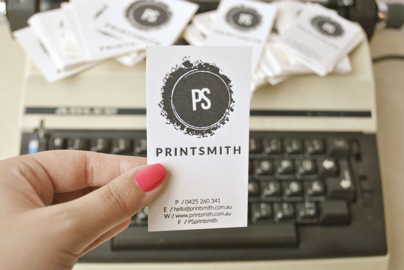 Custom letterpress business cards for Printsmith
