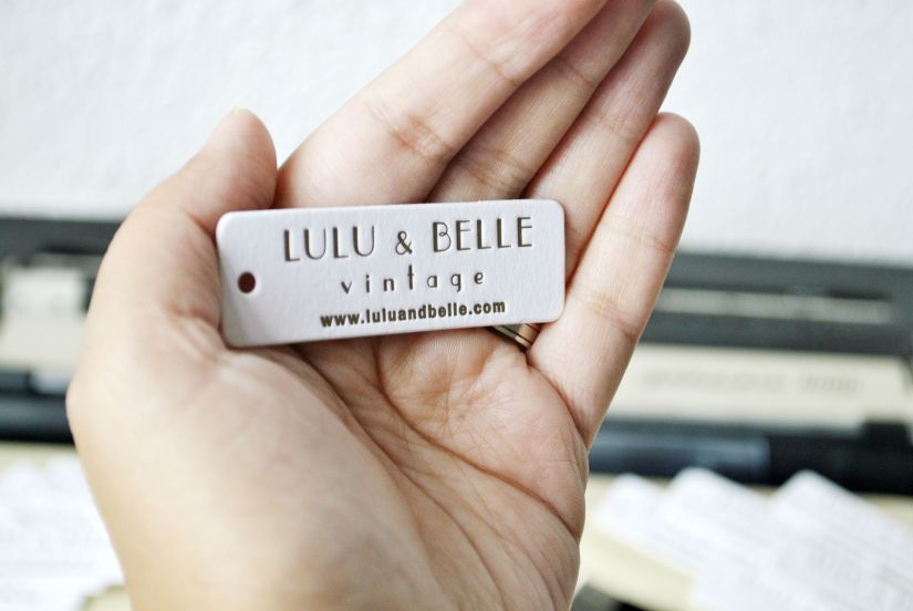 letterpress hang tags for Lulu & Belle