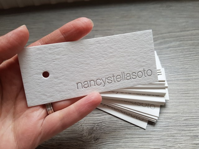 letterpress rectangular tags