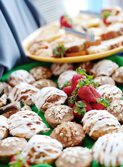 breakfast pastries at a corporate event