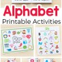 Alphabet Printables And Activities For Preschool And