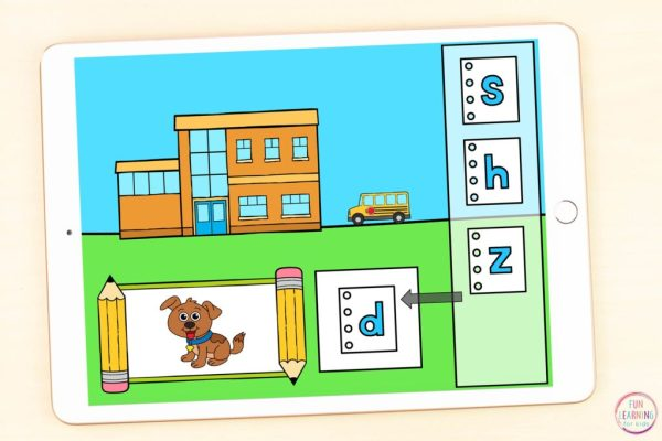 Back to school theme alphabet activity for kindergarten and first grade students to use in Google Classroom or Seesaw.
