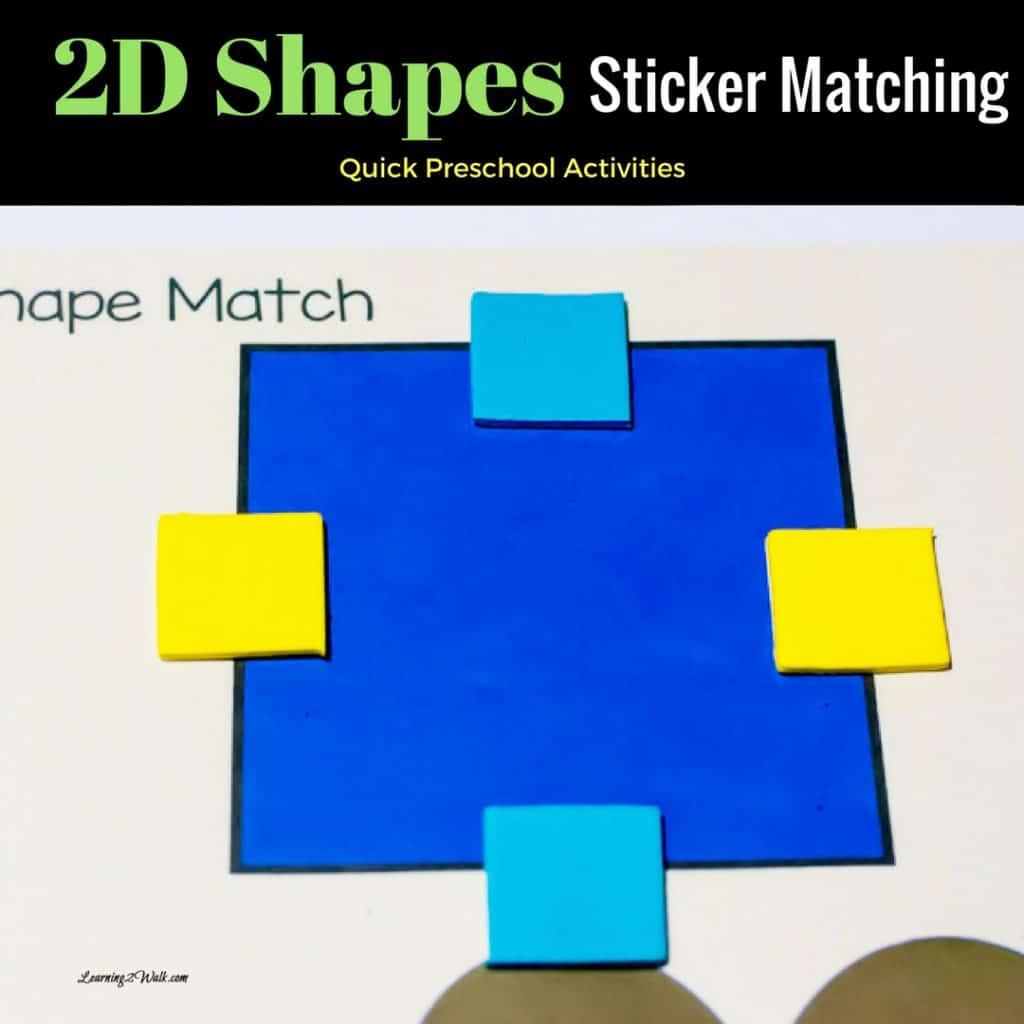 Free Preschool Worksheets 2d Shapes Sticker Matching