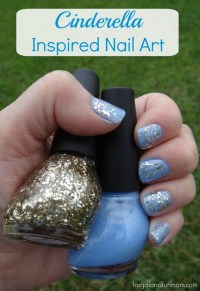 Easy Nail Art Inspired By The Disney Movie Cinderella! # ...