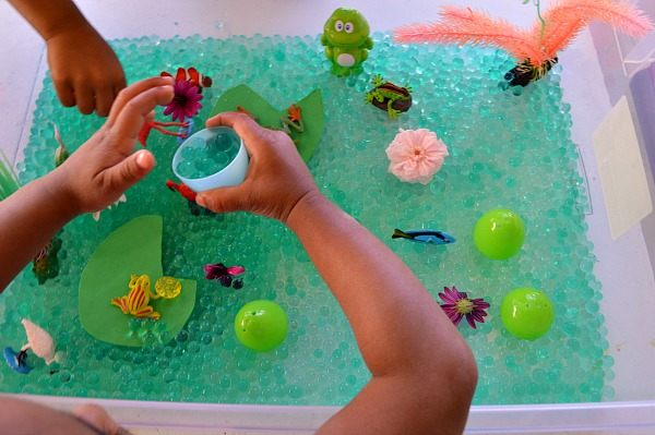 Sensory Activities  Pond life sensory play  Fun Littles