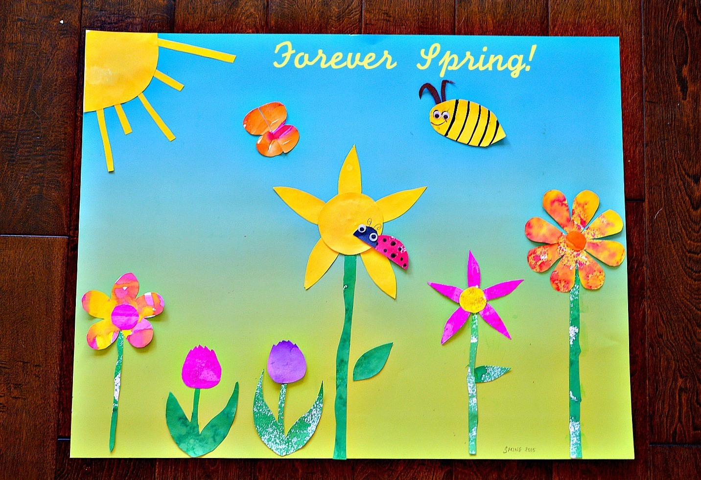 Spring Art For Kids Spring Themed Diy Wall Art