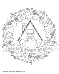 Gingerbread House Coloring Pages Fun Loving Families