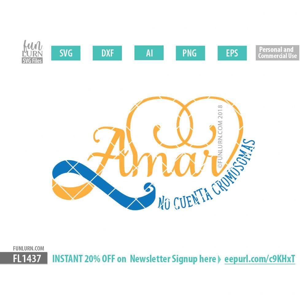Download Amar no cuenta cromosomas SVG - FunLurn