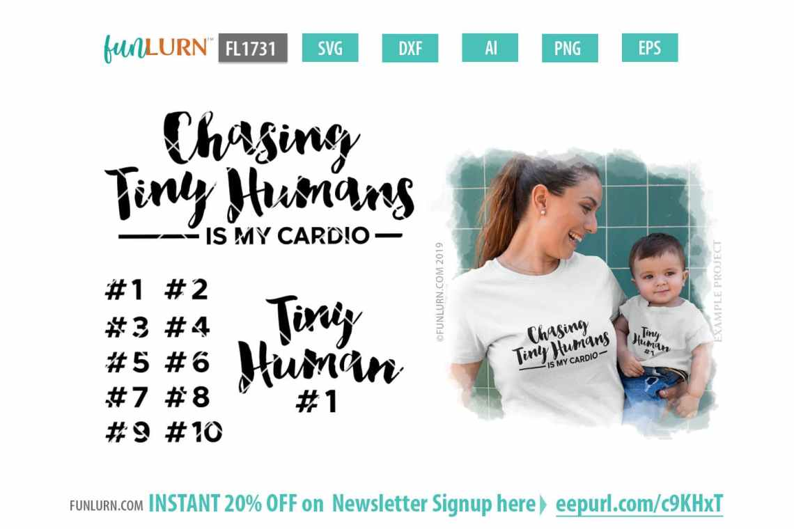 Download Chasing tiny humans is my cardio SVG - FunLurn