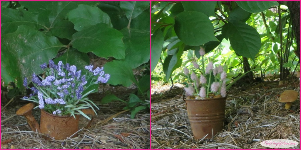 These flowerpots were easy to make and looked great in the gnome village