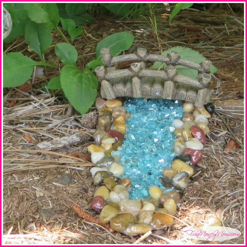 The water feature accessories were expensive so I made my own for the gnome village