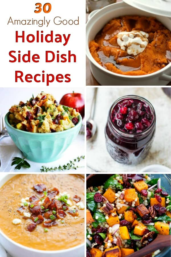 Thanksgiving side dishes - Looking for great side dish recipes for your holiday dinner? From Thanksgiving stuffing to butternut squash, these are our favorite side dish recipes for Thanksgiving dinner! #thanksgiving #sidedish #thanksgivingrecipes #sidedishrecipes #butternutsquash #stuffing