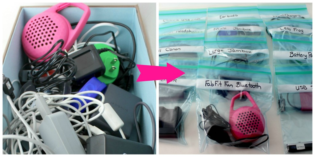 This diy cord organizer makes finding the right charger easy