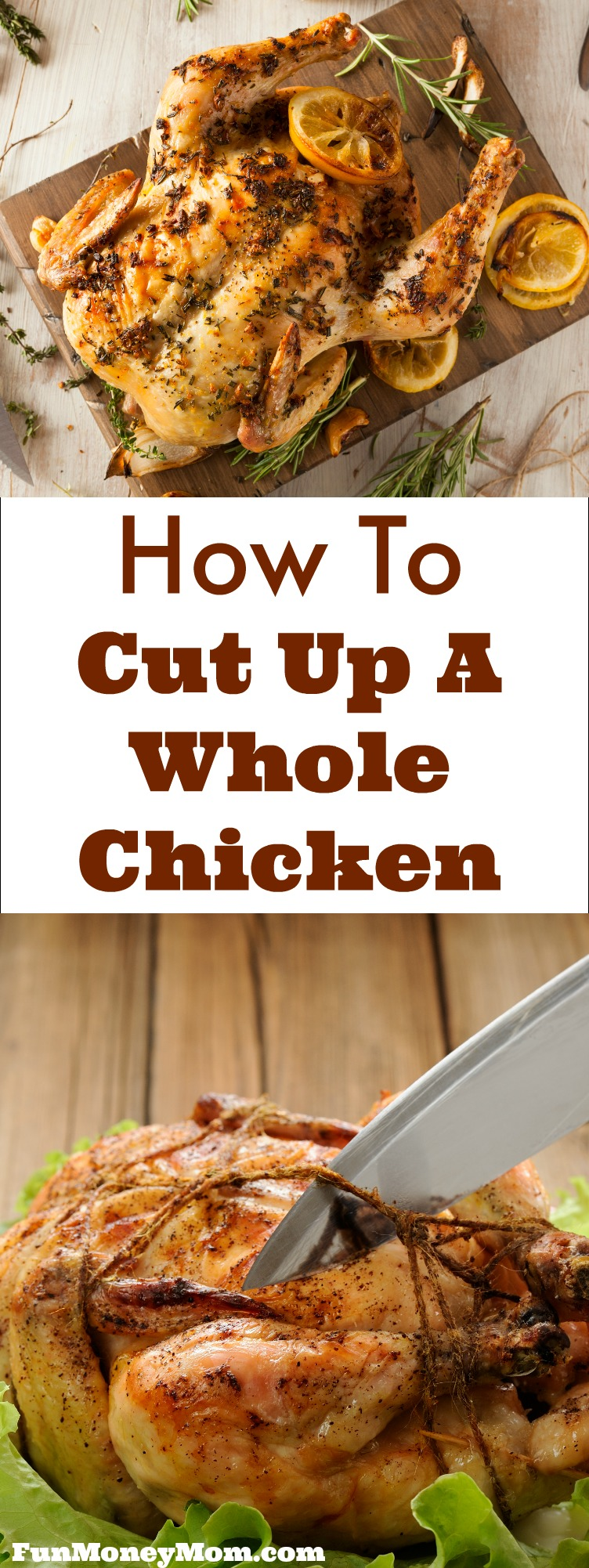 Don't know how to cut a whole chicken? Follow these step by step instructions and in no time, you'll be an expert in cutting chicken!