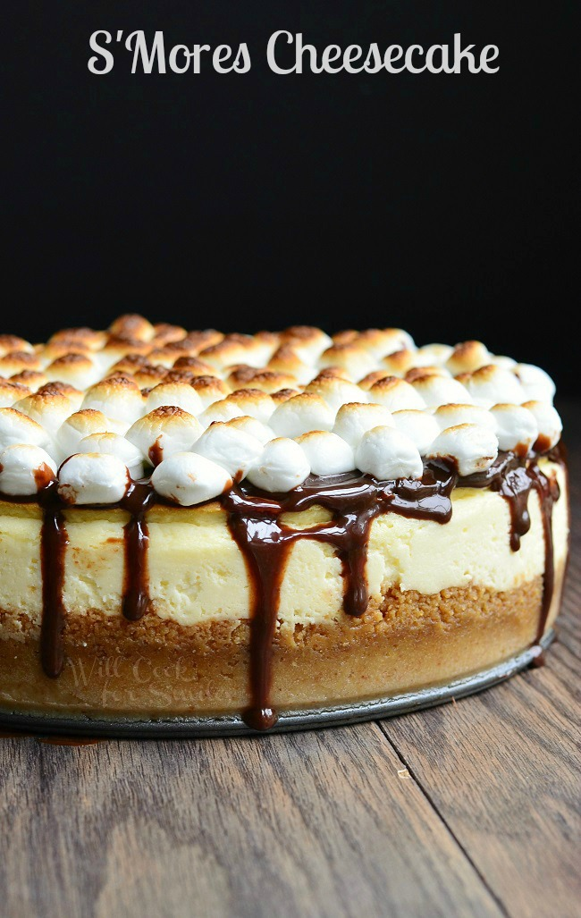 s'mores twists cheesecake