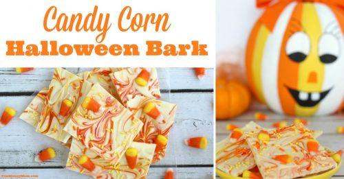 Candy Corn Halloween Bark