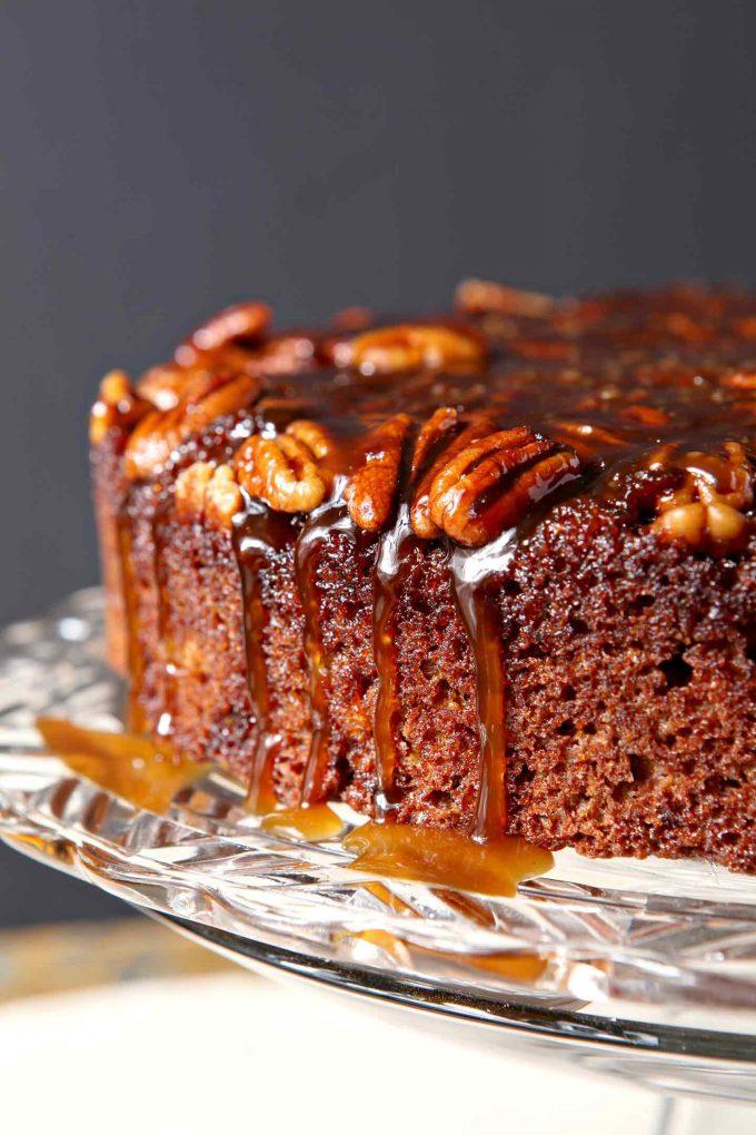 Praline Pumpkin Upside Down Cake will be one of your more popular Thanksgiving dessert ideas
