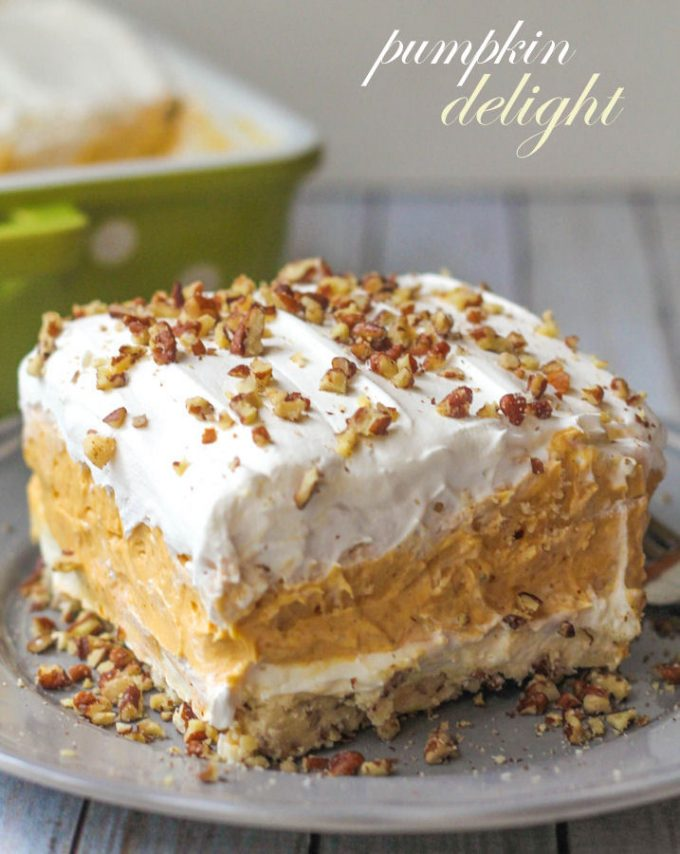 Pumpkin Delight makes a great Thanksgiving dessert recipe