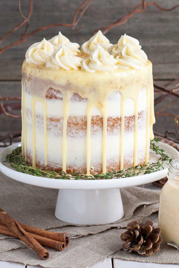 Eggnog cake for Christmas