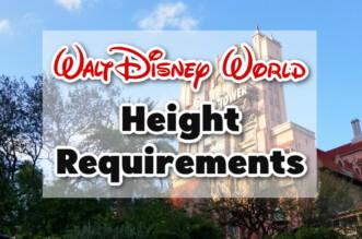 Walt Disney world height requirements