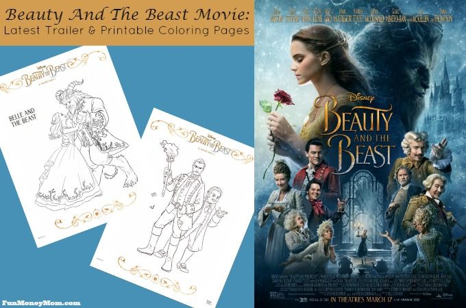 The latest trailer and coloring pages for the Beauty And The Beast Movie