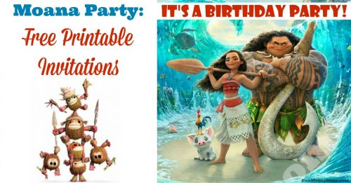 Free printable invitations featuring Moana facebook