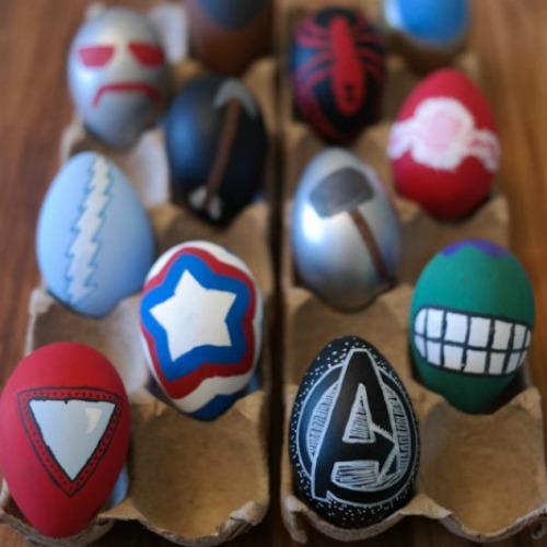 Avengers Easter egg decorating ideas