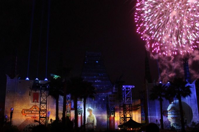 Watching the fireworks and Star Wars: A Galactic Spectacular at the Disney Social Media Mom's Celebration 2017