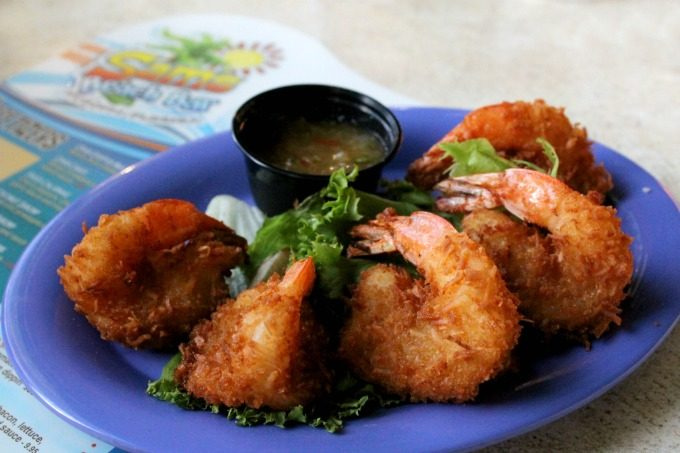 The coconut shrimp at Sam's Beach Bar in Pasco County
