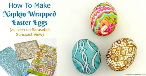 Napkin Wrapped Easter Eggs facebook