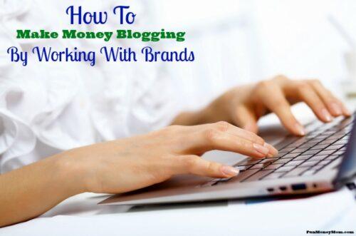 Make money blogging feature