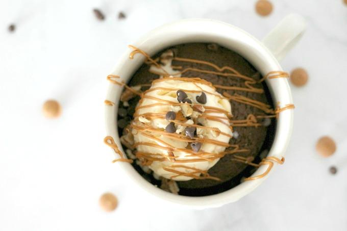 This chocolate mug brownie will satisfy any sweet tooth