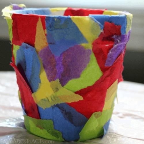 Mother's Day crafts - flowerpot