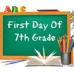 7th grade first day of school signs