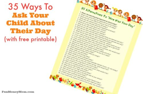 Ask your child about their day feature